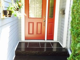 Black Granite Fronts Steps